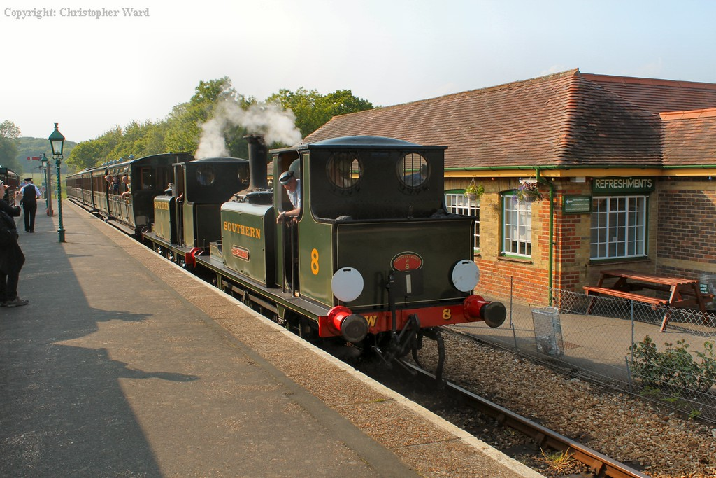 Freshwater leads the train into Havenstreet