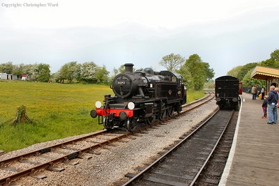 The Ivatt tank, a monster by Isle of Wight standards