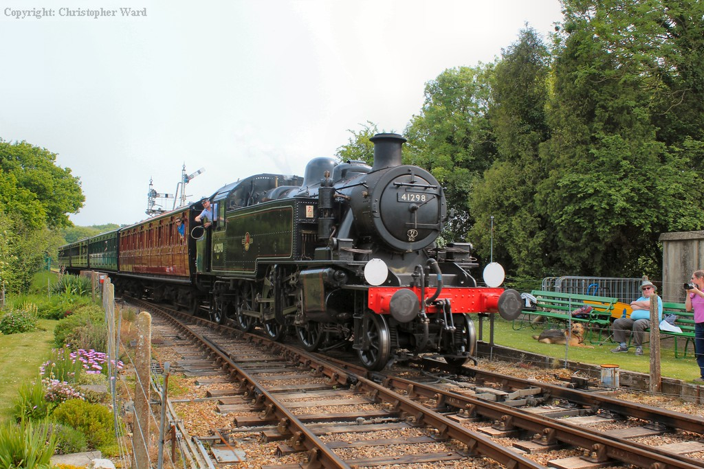 41298 arrives with a train from Smallbrook