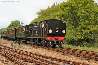 Calbourne rolls into the station at Havenstreet