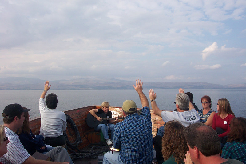 Worship on the Sea of Galilee.