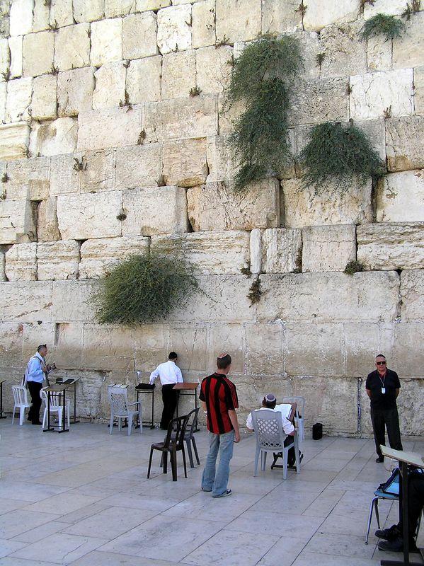 The Wailing (Western) Wall in Jerusalem, Septemebr 2005. Pretty impressive