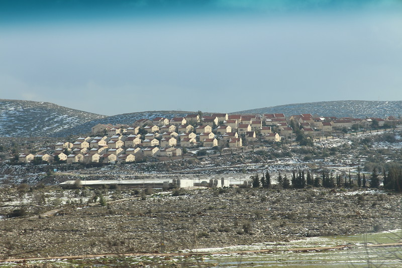 A Jewish settlement on the West Bank.