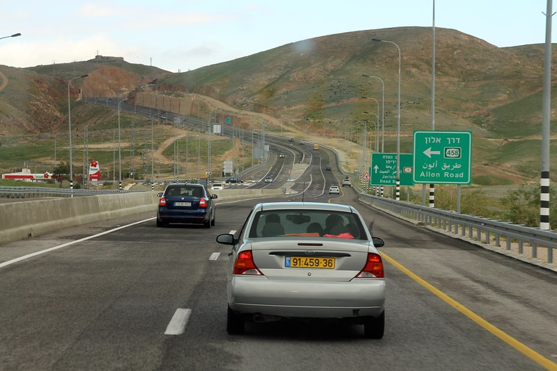 Route 1, heading towards the Dead sea