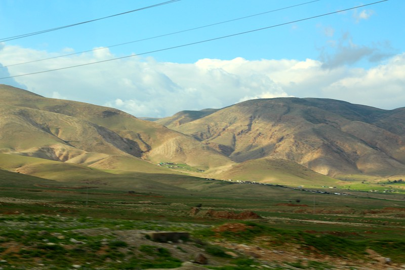 Views of the mountains from Jericho heading back west towards Ramallah
