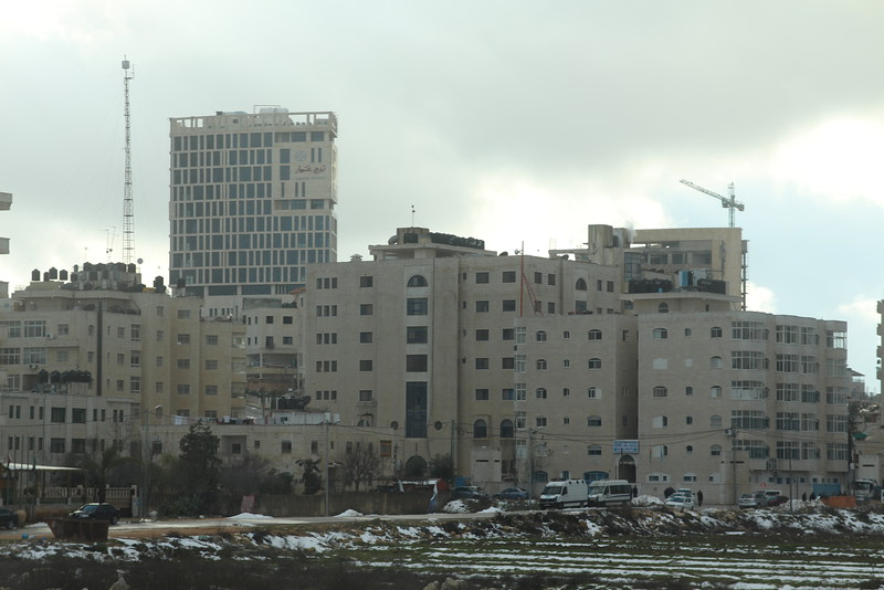 Ramallah, a very modern looking city.