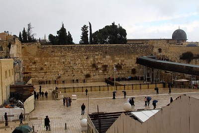 First view of the Western Wall, after going through Security to enter the area.