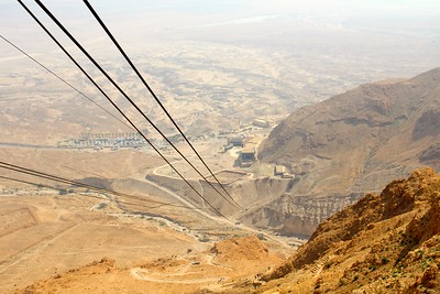 the cable car up Masada