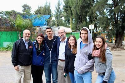 Reunion with the Friends Forever teens at Kibbutz Yagur.  (With Roger Schmigdall)