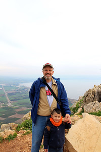 With Adam at Mt Arbel in the Galilee