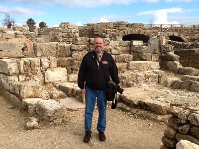 At Caesaria Martima, Herod's man-made port.