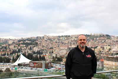 In Upper Nazareth, with Nazareth in the background