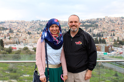 With Samah, one of the Friends Forever teens, in Upper Nazareth