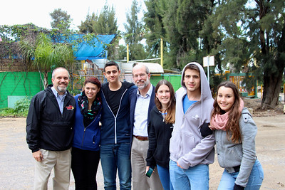 With the Friends Forever teens at Kibbutz Yagur