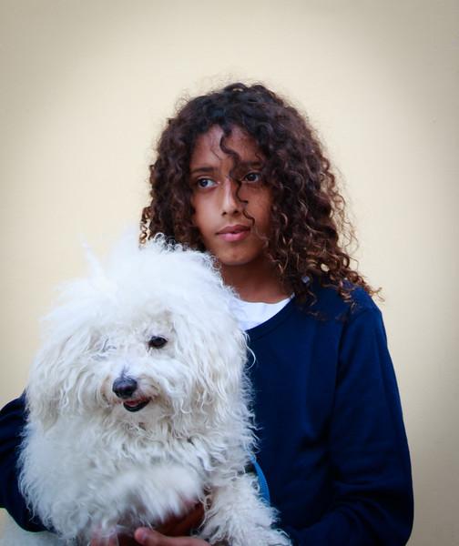 Girl with Dog, Tel Aviv