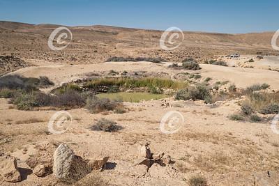 The Bor Hemet Iron Age Cistern near the Makhtesh Ramon Crater in Israel