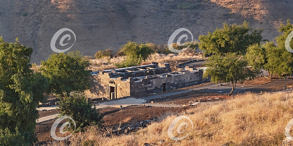 Ancient Synagogue in the Golan Heights in Israel