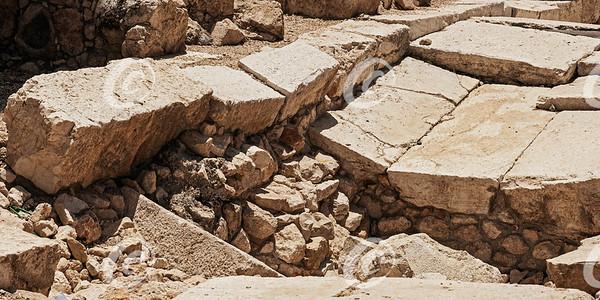 Detail of the Herodian Street Below the Western Wall in Jerusalem