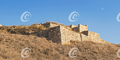 The Ancient Stone City Gates and Retaining Wall at Tel Lachish in Israel