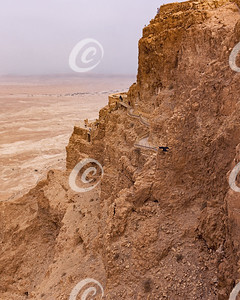 The Northern Palace of Masada in Israel Clings to the Cliffside