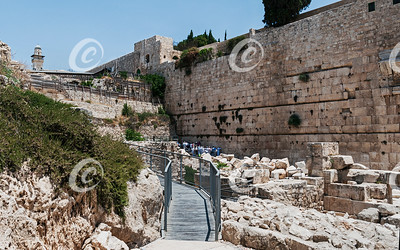 Southern Section of the Western Wall Kotel in Jerusalem
