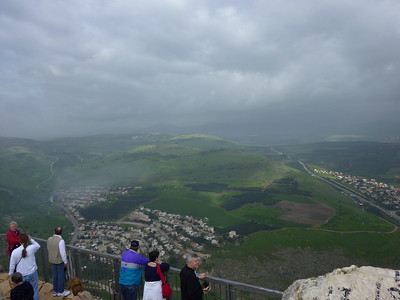 A slice of Northern Galilee viewed from Mt Arbel