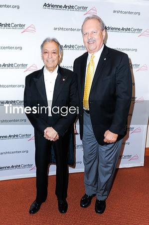 Conductor Zubin Mehta and Douglas Thiel