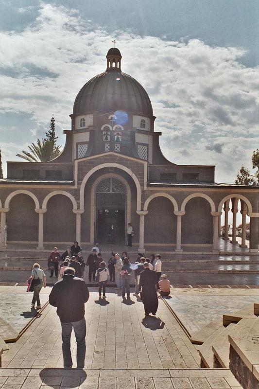 The octagonal Shrine of the Beatitudes