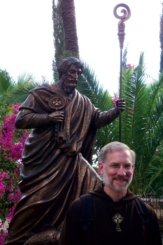 St. Peter looks on Fr. Joseph.  Photo by Nancy Chlebnik.