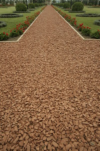 Clay path at Bahai Gardens in Bustan Ha Galil