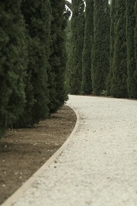 A gravel path at Bahai Gardens in Bustan Ha Galil