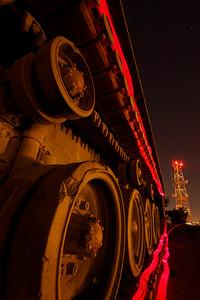 Har Hadar tanks at night