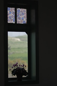 Taken at Latitude/Longitude:32.623051/35.563343. 1.19 km East Gesher Northern District Israel  (Map link) Flowers on window sill