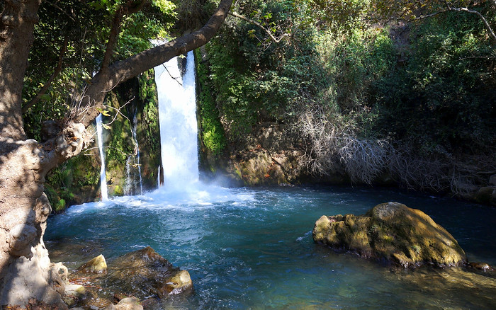 Waterfalls at Banias Nature Reserve, a great place for a hike on one of your day trips around Israel