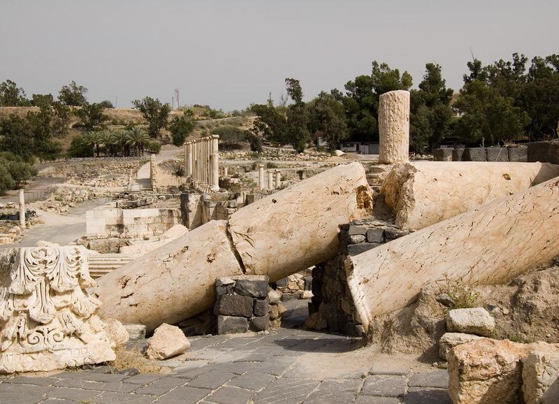 Beit Shean. Antique town.