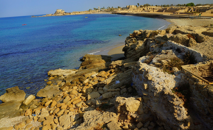 Caesarea, an ancient Roman city on the shores of the Mediterranean Sea.