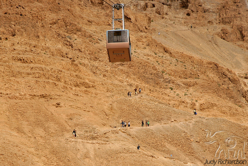 Hikers & Gondola @ Masada
