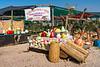 A roadside market near the Dead Sea, Israel, Middle East.