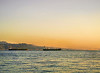 Two Ships at Sunset, Red Sea, Eilat, Israel