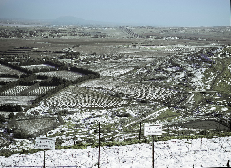 View of Syria (South), Mount Bental, Golan Heights, Israel