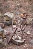 Metal sculptures on Ben Tal Mountain near the Syrian border, Israel, Golan Heights.