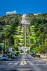 The Bahia shrine and gardens on the slopes of Mount Carmel in Haifa, Israel, Middle East.