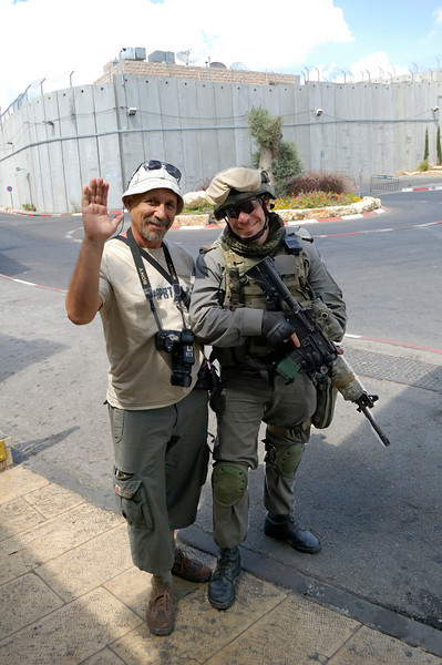 Memory picture with Israel soldier