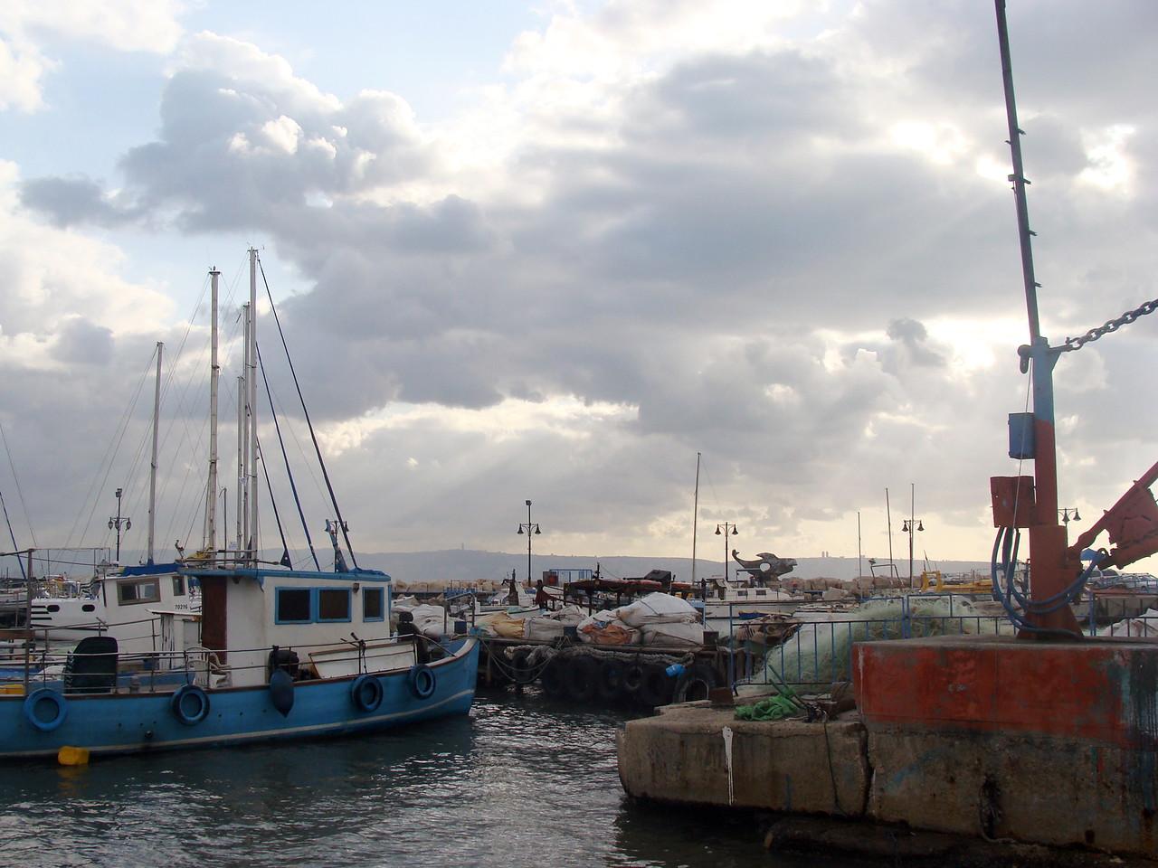 Akko Port Fishing Boats