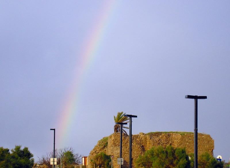 Rainbow over Byzantine Caesarea
