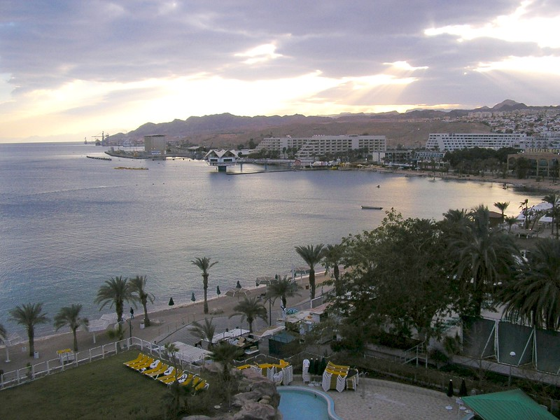 Eilat Harbor at Dusk