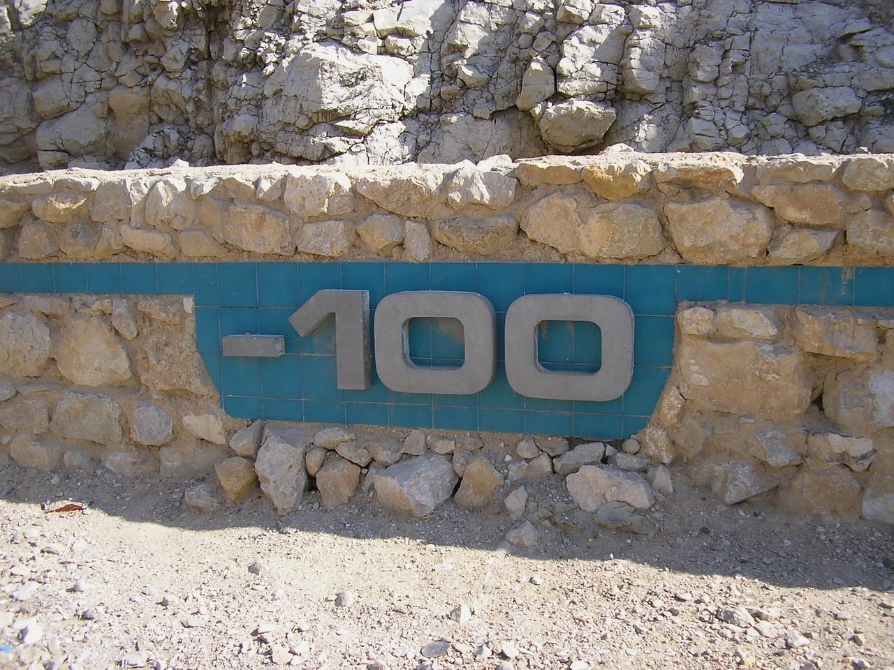 100 Meters below Sea Level
