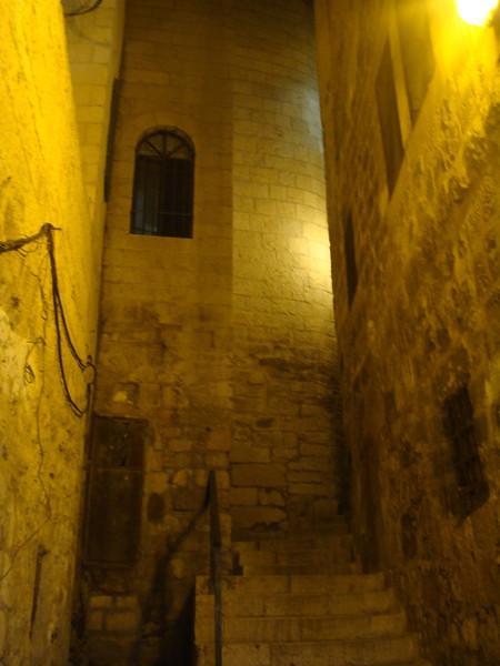 Old City Passageway at Night