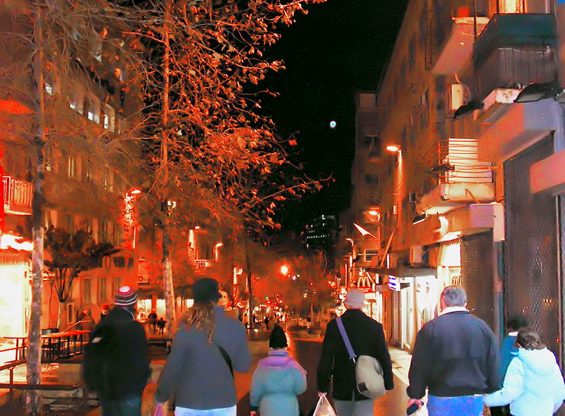 Evening in Ben Yehuda