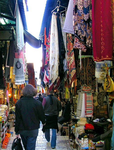 Scarves in the Souk